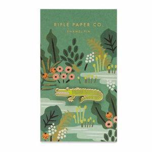 NWT Rifle Paper Co. Alligator Enamel Pin